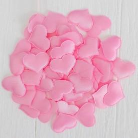 Набор декоративных розовых сердец - 50 шт.