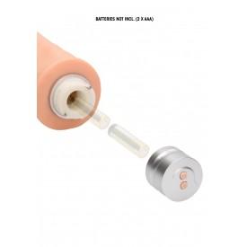 Телесный реалистичный вибратор Vibrating Dildo - 25 см.